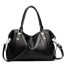 White Shoulder Hobo Bags NZ - 2019 Fashion BARHEE Large Capacity Women Handbag Soft PU Leather Shoulder Bag Bolsas Fashion Solid Tote Bags Ladies Hobo Black White Pink