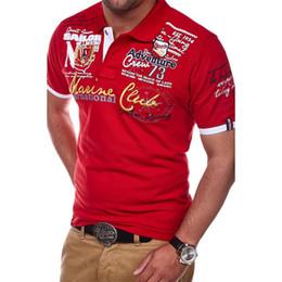 $enCountryForm.capitalKeyWord Australia - Zogaa Short Sleeve Casual T Shirts Turn-down Collar Letter Polyester T Shirt Men Fashion Personality Cultivating Short-sleeved J190720