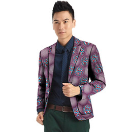 Wholesale unique men wedding suits for sale - Group buy Formal men s blazers print suit jacket robe blazer wedding party unique design dashiki male African clothing