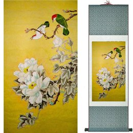 $enCountryForm.capitalKeyWord Australia - Traditional Silk Art Painting Birds And Water Lily Chinese Art Painting Home Office Decoration Chinese Painting2019071931