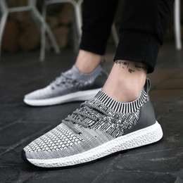 lighting height NZ - Hot Sale-Running Shoes For Men's Mesh Breathable Men Height Increasing Light Comfort Shoes Sports