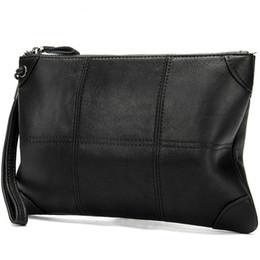 $enCountryForm.capitalKeyWord UK - Fashion Genuine Leather Men Envelope Bags Wrist Mens Clutch Bags Luxury High Quality Man Wallet Bag Male Leather Handbags Mini