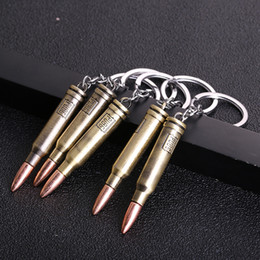 bullet chains Australia - 2019 New Hot Game PUBG Gun Bullets Keychain letter 300 Win Mognum High Quality Metal Key Ring Key Chain For Player's Gifts