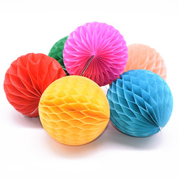 honeycomb balls decorations Australia - 1pc 2 4 6 8inch Honeycomb Ball Paper Flower Lantern Ball Wedding Party Kids Birthday Party Xmas Decoration Baby Show Supplies