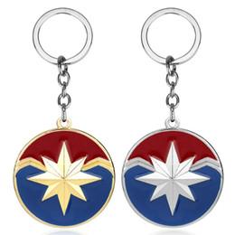 $enCountryForm.capitalKeyWord Australia - Marvel Captain Marvel Logo Shield Keychain The 4 Superhero Carol Danvers Charms Key Chains for Women Men Jewelry Gifts