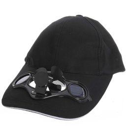 Solar Fan Camping Australia - black Solar Powered Air Fan Cooled Baseball Hat Camping Traveling