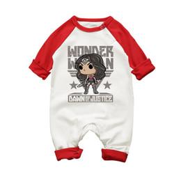 Pink Clothing Women UK - Fashion 2017 Autumn Winter Baby Boys Girls Rompers Bebes Cotton Unisex Wonder Woman Infant Jumpsuits Newborn Clothing 3m-18m J190525