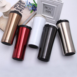 Electric Hot Warmer Australia - Vacuum flask Stainless Steel Tumbler Sealed Travel Coffee Mug for hot and cold drinks Food Grade Business Car Portable Easy take