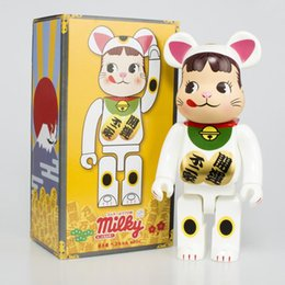 toys gif NZ - New 28CM 400% Bearbrick Evade glue Milk gir block bear figures Toy For Collectors Be@rbrick Art Work model decorations kids gif