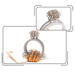 3d diamond paper online shopping - Party Supplies Decoration Paper Greeting Card Diamond Ring Handmade Craft D Wedding Home Gift Valentine s Day Hollow Out