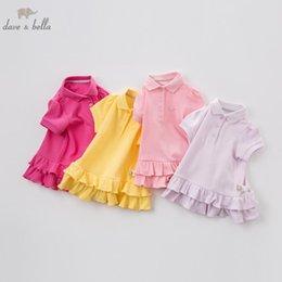 Cute Baby Tees Australia - Db7717 Dave Bella Summer Baby Girls Cute T-shirt Kids 100% Cotton Fashion Tops Children High Quality Tee Y19051003