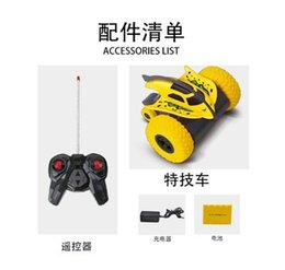 Wholesale Toys Helicopter NZ - Factory Direct Sales 360-degree rotating stunt remote control car children's flip bucket wireless deformation toy car wholesale