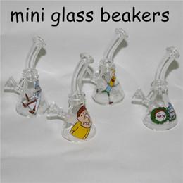 $enCountryForm.capitalKeyWord Australia - Rick and morty mini glass bong beaker design smoking water pipes glass hookah filter glass bong dab rig