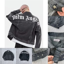 Men s casual vest styles online shopping - Palm Angels ss Denim Jacket Women Mens Casual Streetwear Fashion Best Quality Washing Old Style coat Outerwear Coats Jackets vetements
