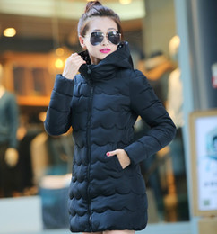 Discount cheap long cotton coats - Cheap wholesale 2016Spring winter new 7colors M-XXL down cotton Lady Jacket thickening women's slim medium-long war