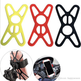 Wholesale Silicone Bicycle Motocycle Bike Mobile Phone Mount Holder Rubber Cellphone Cover Stand for iPhone Samsung Universal