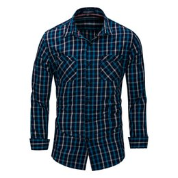 $enCountryForm.capitalKeyWord UK - Business men new code men's pure cotton long-sleeve shirt plaid shirt Polo shirt 161