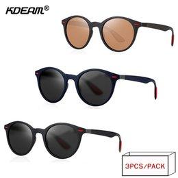 Опт KDEAM 2018 год конец продвижение ретро поляризованные солнцезащитные очки мужчины Марка классический TAC объектив солнцезащитные очки УФ путешествия очки 3 шт. XH64