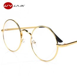$enCountryForm.capitalKeyWord Australia - UVLAIK Round Spectacle Glasses Frames For Harry Potter Glasses With Clear Glass Women Men Myopia Optical Transparent Glasses