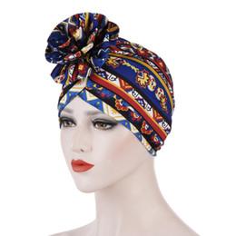 $enCountryForm.capitalKeyWord Australia - Muslim Stretch Print Big Flower Women's Beanies Chemo Cap Turban Hat Wrap Plated Cover Headwear for Cancer Loss Hair Accessories