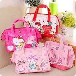 $enCountryForm.capitalKeyWord Australia - New Hello Kitty Fresh Insulation Cold Bales Thermal Oxford Lunch Bag Waterproof Convenient Leisure Bag Cute Kitty Cuctas Tote