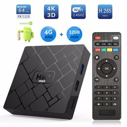free tv receiver box UK - Transpeed Android 8.1 Smart TV BOX RK3328 4G DDR3 RAM 32G ROM TV receiver 4K Wifi Media player Free Apps Very Fast Set top Box