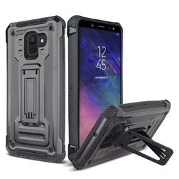 8d7b6aa735b Kickstand Phone Protective Case for Samsung Galaxy S10E S10 Plus J2 Core  J260 J4 J6 Prime Note 9 Cover Back Hard Shockproof