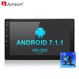 "android car dvd for nissan NZ - car dvd Junsun 7"" 2 Din 2G+32G Android 7.1 Car Multimedia Player Tap PC Tablet GPS navigation for nissan autoradio Stereo headrest radio"