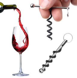wine bottle opener keyring Australia - Bottle Opener Outdoor Mini EDC Cork Screw Red Wine Bottle Opener Keyring Tool Multi-functional Camping Equipment Tool 398