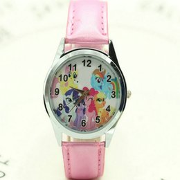pony girl leather UK - Free Shipping women children pretty pony horse Girl cartoon lovely watch Best fashion casual simple quartz round leather