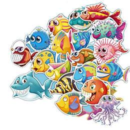 $enCountryForm.capitalKeyWord Australia - Wholesale 40pcs-Pack Stickers underwater water Cute Cartoon FishSkateboard Laptop Stickers Laptop Notebook Kids Teens stickers