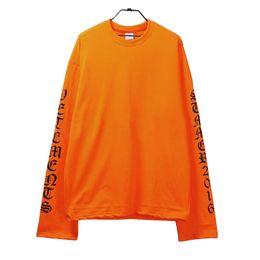 $enCountryForm.capitalKeyWord UK - GD Loose Hoodies Letter Print Orange Sweatshirts Mens Women Streetwear Long Sleeve Tshirts Lovers Tops Hip Hop Clothing
