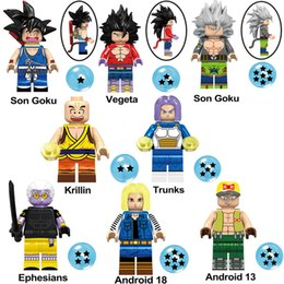 dragon ball mini toys NZ - Japan Anime Dragon Ball Z Super Saiyan Son Goku Krillin Vegeta Trunks Ephesians Android 18 13 Mini Toy Action Figure Building Blocks