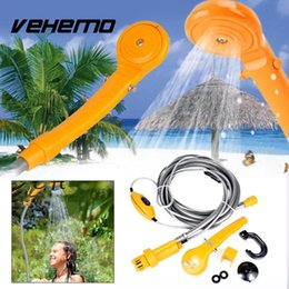 car clean tools 2019 - Vehemo 12V Car Electric Portable Outdoor Camping Travel Shower With Water Pipe High Quality Cleaning Tool For Car Garden