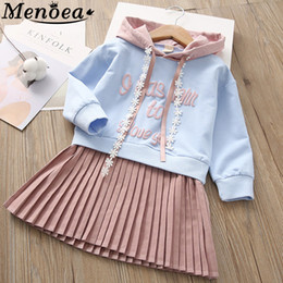 european style clothes for kids Australia - Children Dress 2019 Autumn European and American Style Girls Pattern Pocket Long-Sleeve Dress For 2-6Y Baby Clothes Kids