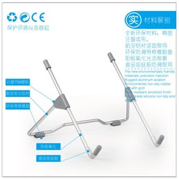 mini stand for tablet UK - Cooler Stand computer laptop holder for iPad Mini Tablet Radiator Mount 15 Computer Portable Metal Bracket Base 10 12 13 car