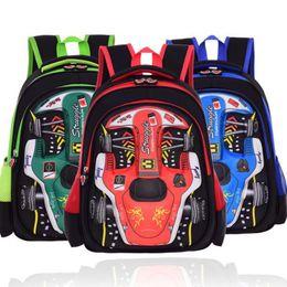 b7aee170e5 Cartton 3D Racing Car Boy Girl Baby Children Kindergarten Nursery School bag  Bagpack Teenager Schoolbags Kids Student Backpacks