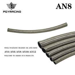 "braided fuel hose Australia - PQY - AN8 8AN AN-8 (11.2MM 7 16"" ID) STAINLESS STEEL BRAIDED FUEL OIL LINE WATER HOSE ONE FEET 0.3M PQY7113-1"