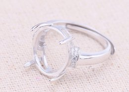 Rings bases online shopping - 12 mm STERLING SILVER girl women Semi Mount Bases Blanks base blank ring Setting wedding jewelry findings diy A2196