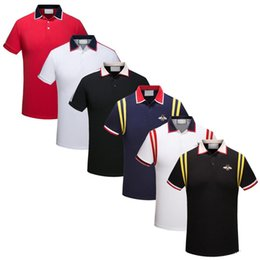 free embroidery polo shirts UK - 2019 Italy fashion Classic Luxury designer Brand new men polo t shirts short sleeve embroidery Letter mens polos 3XL
