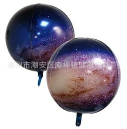 party supplies round balloons Australia - 4D 22nch Star Universe Round Shape Aluminium helium foil Automatic Sealing Balloon for Birthday Party Decoration Supplies