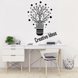 wall stickers words nursery NZ - Creative Ideas Vinyl Wall Decal Light Bulb Words Logo Office Decor Wall Stickers For Home Decoration Wallpapers Removable