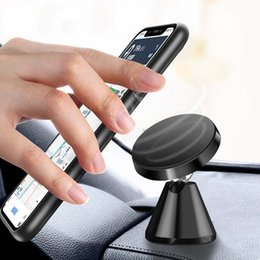 metal mobile phone holders 2019 - For Iphone Xs max Car Mount Holder High Quality Metal Car mount Magnetic Mobile Phone Holder for All cellphone keys disc