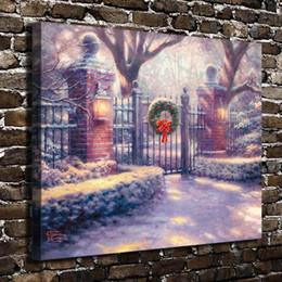 $enCountryForm.capitalKeyWord Australia - Christmas Gate,Home Decor HD Printed Modern Art Painting on Canvas (Unframed Framed)