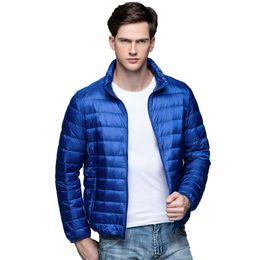 Parkas For Winter Australia - 2019 Autumn Winter Down Coat 90% White Duck Down Parkas for Men hot Male Jacket Ultra Light Thin Winter Jackets Men Outerwear