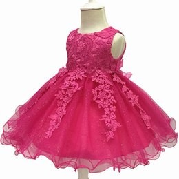 wedding dress for years kids Australia - Baby Girls Dress 2018 New Summer Infant Lace Party Dress For Girls 1 Year Birthday Dress Wedding Christening Gown Kids Clothes J190528