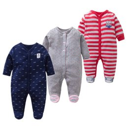 Baby Boy Cotton Overalls NZ - Baby Girls Rompers 3 Pieces Unisex Character Full Clothing Set 100% Cotton Toddler Clothes Newborn Boys Overalls Infant Jumpsuit J190514
