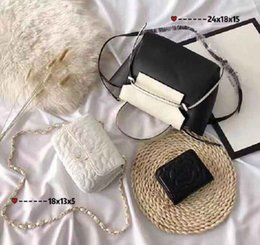 Shop Leather Bag Australia - Designer Handbags Brand Bag Paris Real Leather Luxury Handbags Shopping Bag Shoulder Bag Fashion Clutch Bags Wallet Purse 1 Piece=3 bags Q24