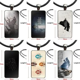 throne pendant NZ - Steel Color Jewelry Fashion Statement Necklace Glass Necklaces Pendants For Girls Handmade Gift Stark Game Of Throne