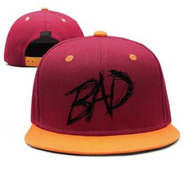 $enCountryForm.capitalKeyWord Australia - XXXTentacion black logo Design Snapback Flat Bill Brim Baseball Caps Hip-Hop Sun Hat Adjustable Holiday